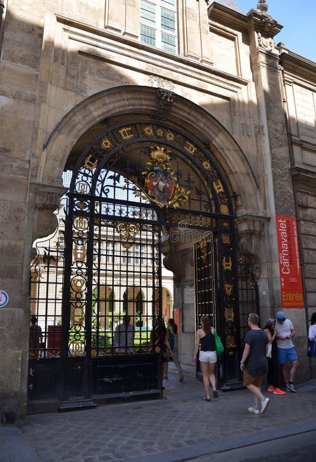 Carnavalet Museum, Paris stock image