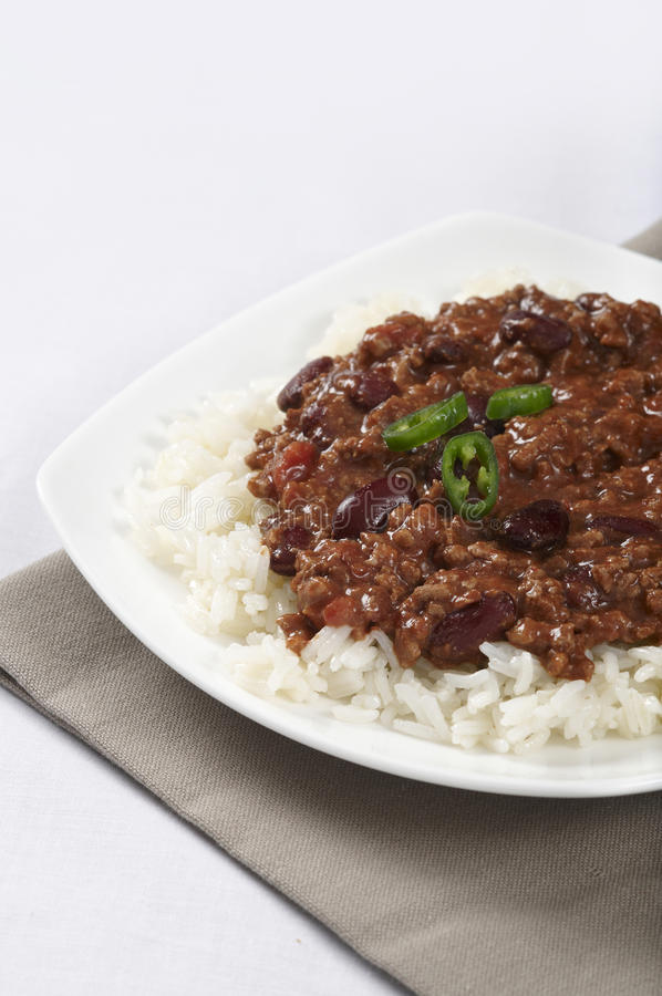 carne ρύζι τσίλι con στοκ φωτογραφίες
