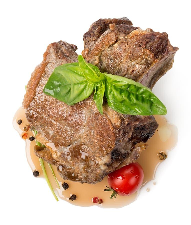 Carne arrostita con salsa immagine stock libera da diritti