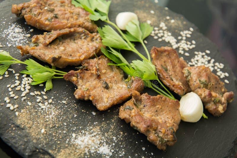Carne arrostita coreana, bulgogi, carne del barbecue immagine stock
