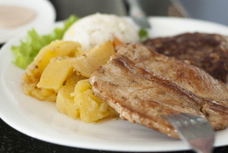 Carne asada, cena imagen de archivo libre de regalías