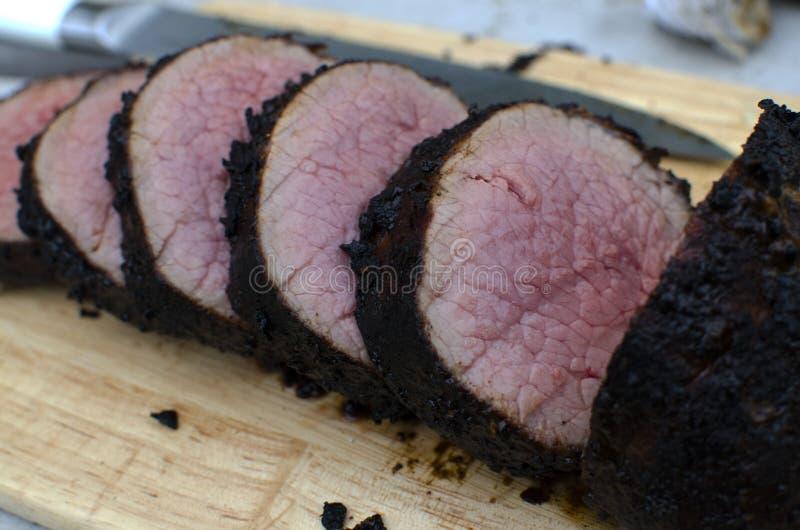 Carne asada de carne de vaca cortada imagen de archivo