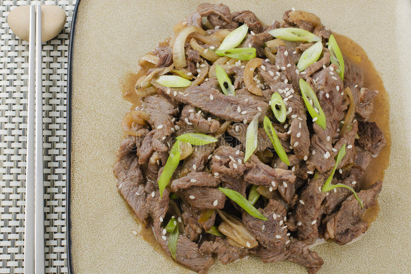 Carne Bulgogi fotos de stock royalty free