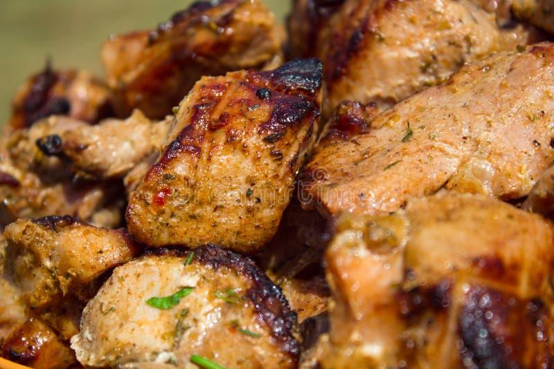 Carne calorosa all'aperto immagine stock