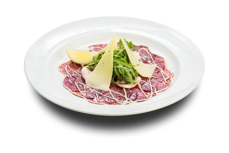 Carne Carpaccio fotografie stock