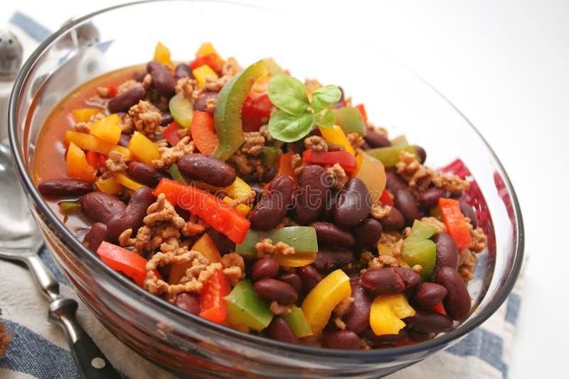 carne chili przeciw zdjęcie stock