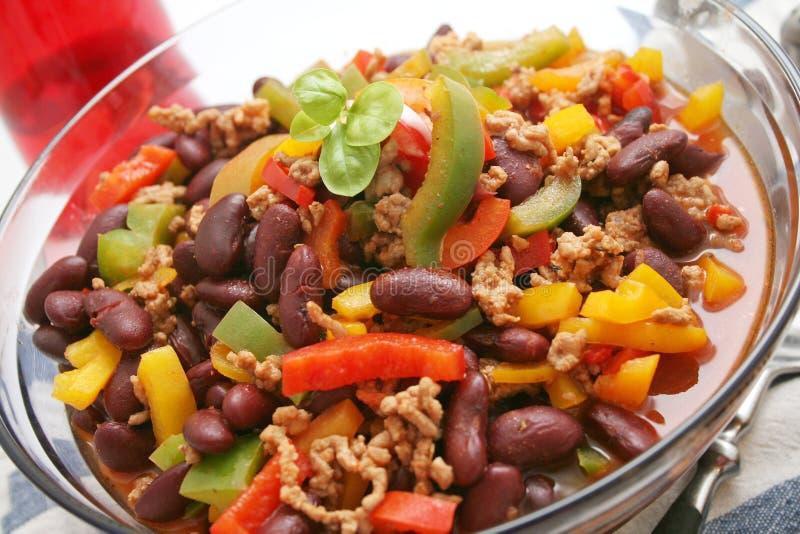 carne chili przeciw zdjęcia royalty free
