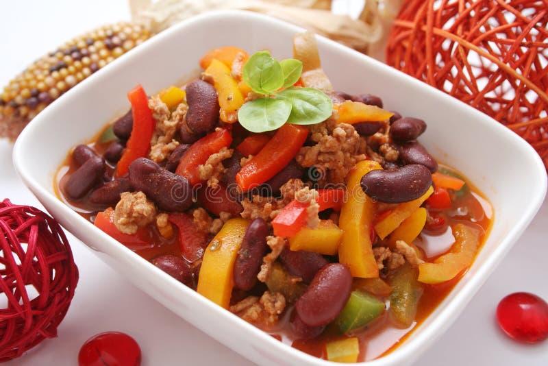 carne chili przeciw obraz royalty free