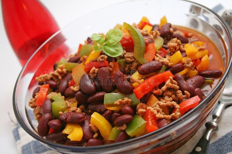 carne chili przeciw obrazy royalty free