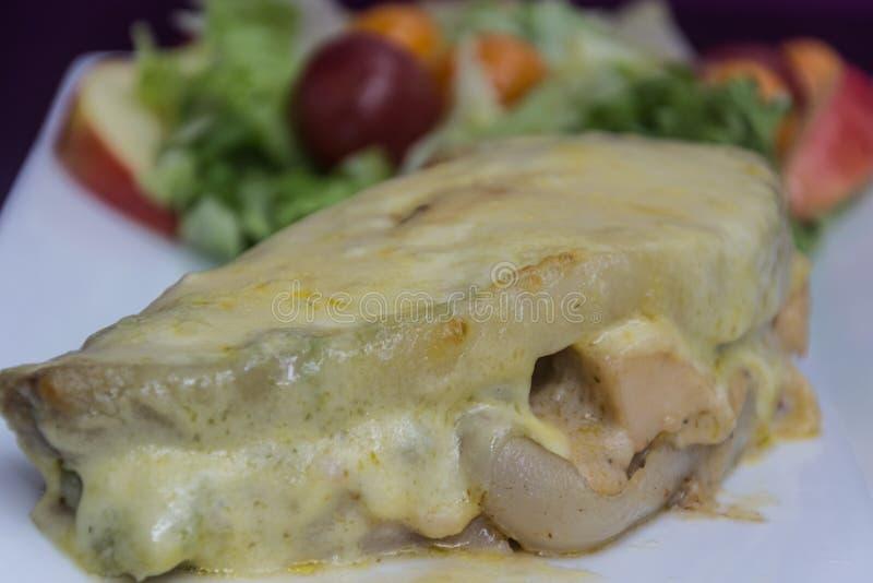 Carne con formaggio fotografia stock libera da diritti