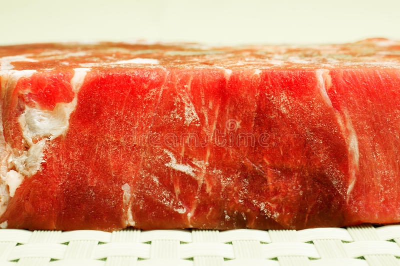 Carne congelada imagens de stock