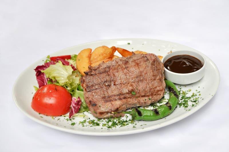 Carne cotta, kebap del iskender immagine stock