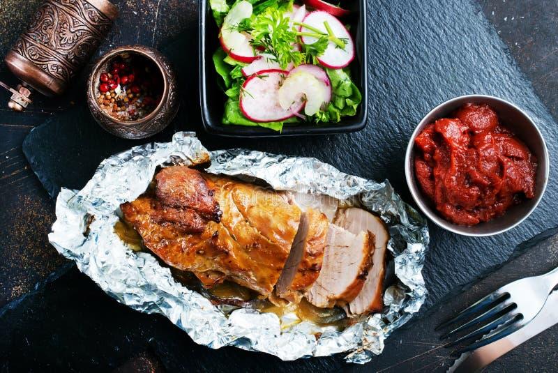Carne cozida com especiaria imagem de stock