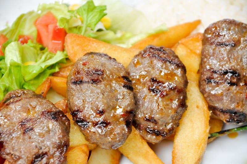 Carne cozinhada, almôndegas grelhadas fotos de stock