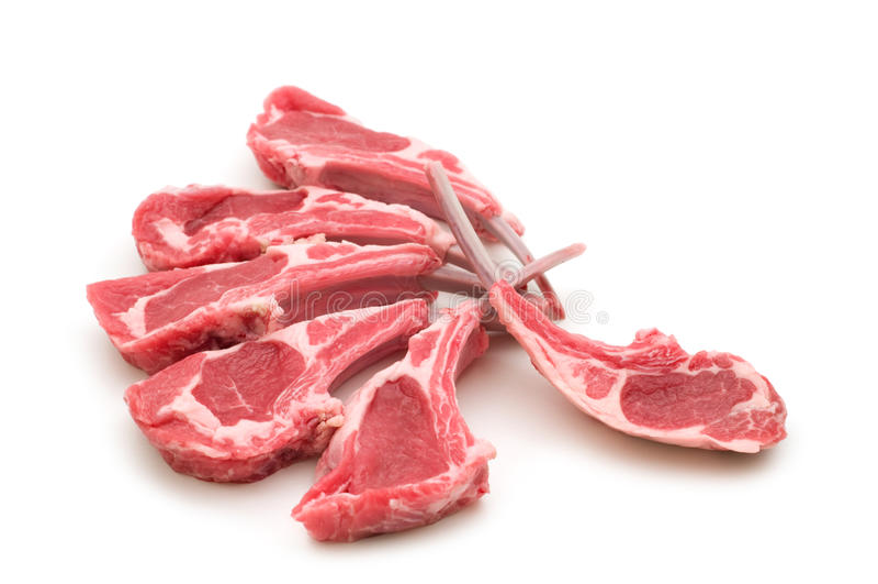 Carne crua do cordeiro fotos de stock royalty free