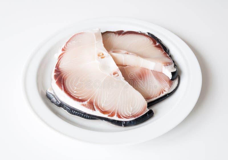 Carne crua do tubarão fotografia de stock