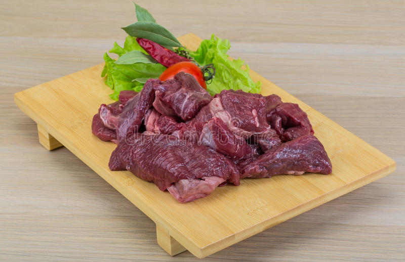 Carne crua do venison foto de stock royalty free