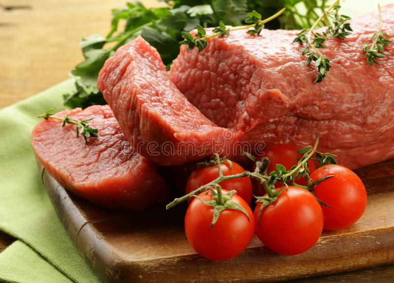Carne crua fresca da carne fotografia de stock