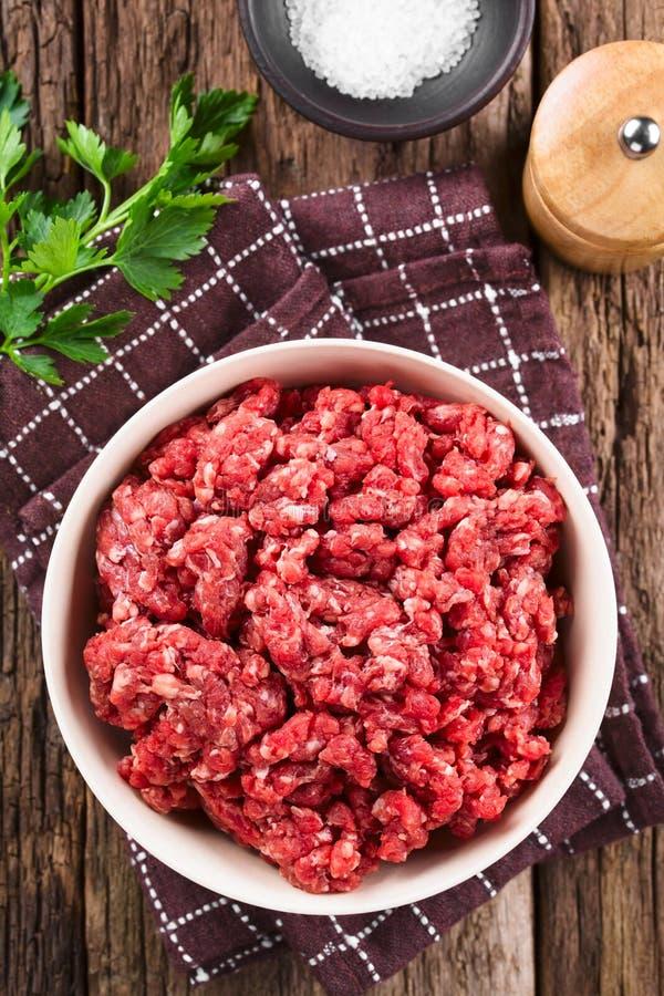 Carne crua fresca da carne picada fotos de stock