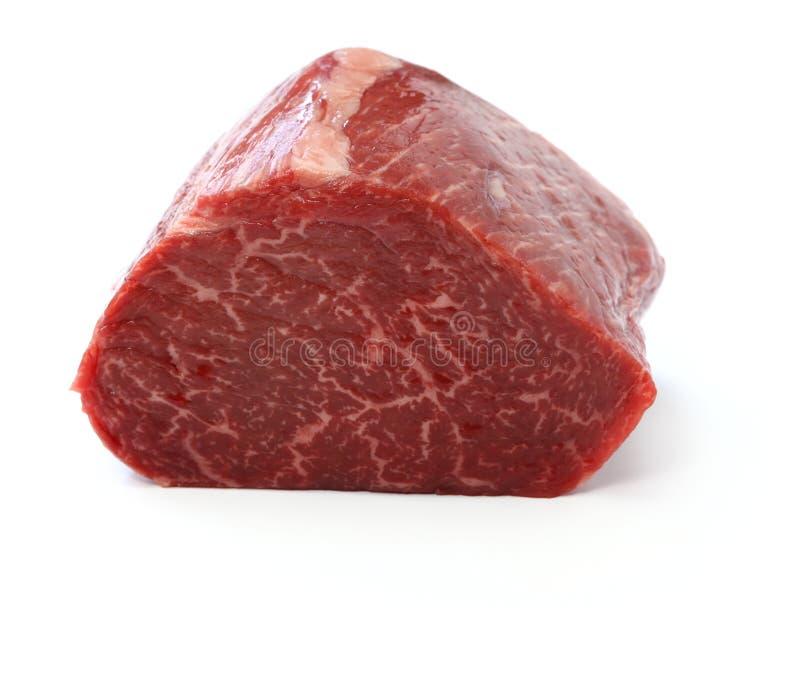 Carne cruda del blocchetto della groppa del manzo fotografia stock