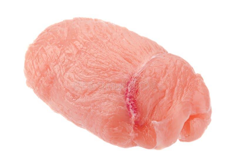 Carne cruda del rotolo del petto di pollo fotografia stock