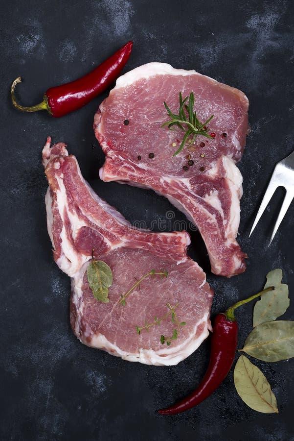 Download Carne Cruda, Filete De Carne De Vaca Foto de archivo - Imagen de cena, romero: 100526104