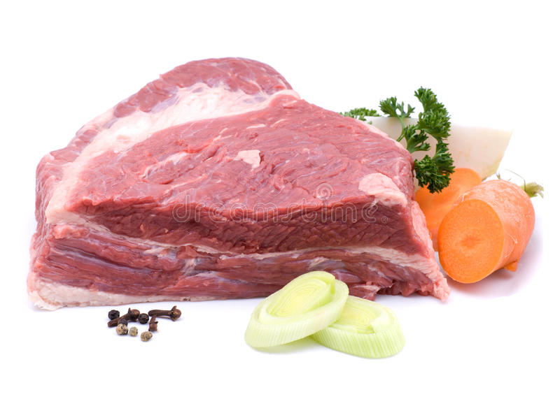 Carne d'ebollizione immagini stock