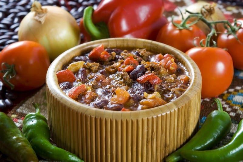 Carne d'escroquerie de piments photographie stock