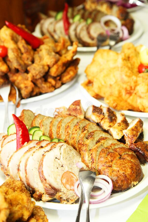 carne de aves cozida da czech como alimento de gourmet fotos de stock