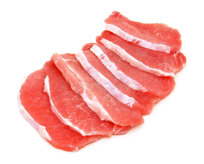 Carne de carne de porco fresca fotos de stock royalty free