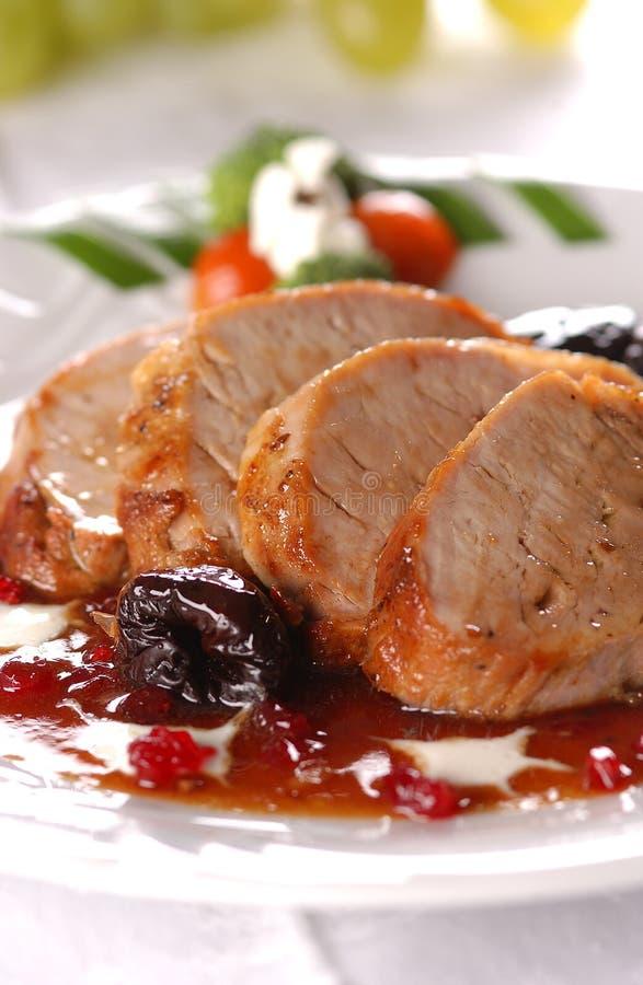 Carne de carne de porco grelhada fotografia de stock