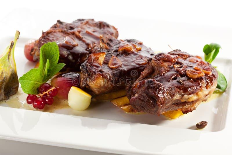 Carne de carneiro cozida imagem de stock royalty free