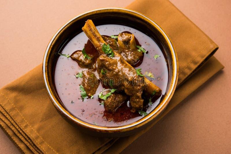 Carne de carneiro Masala ou Masala Gosht ou josh rogan do cordeiro indiano fotos de stock royalty free