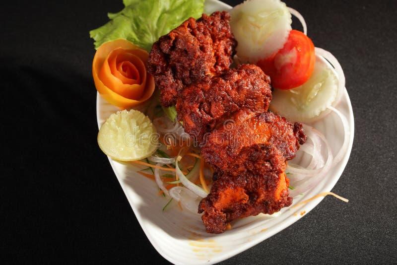 A carne de carneiro Tikka é prato indiano/paquistanês foto de stock royalty free