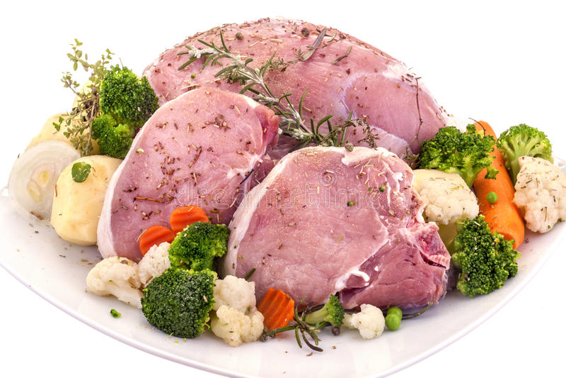 Carne de cerdo fresca imagenes de archivo
