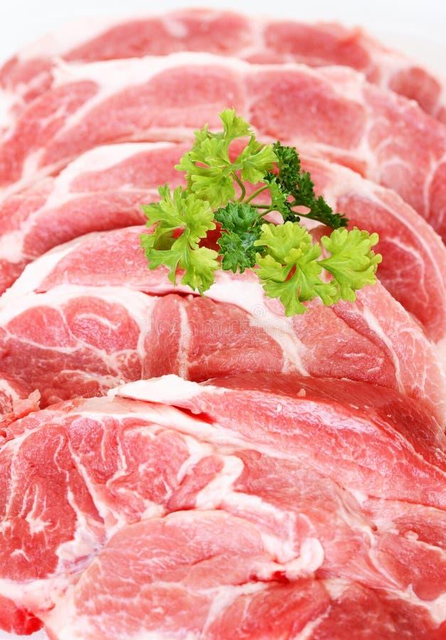 Carne de cerdo sin procesar imagen de archivo