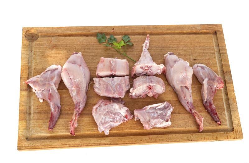 Carne de coelho em estúdio foto de stock
