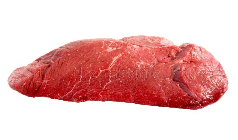 Carne de la carne de vaca Filete de carne de vaca crudo fresco aislado en blanco foto de archivo