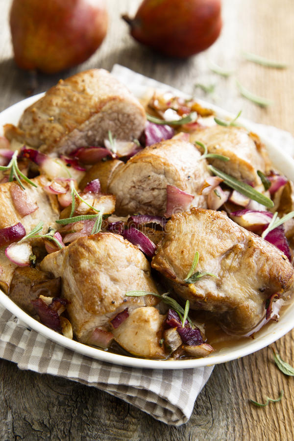 Carne de porco cozida imagem de stock