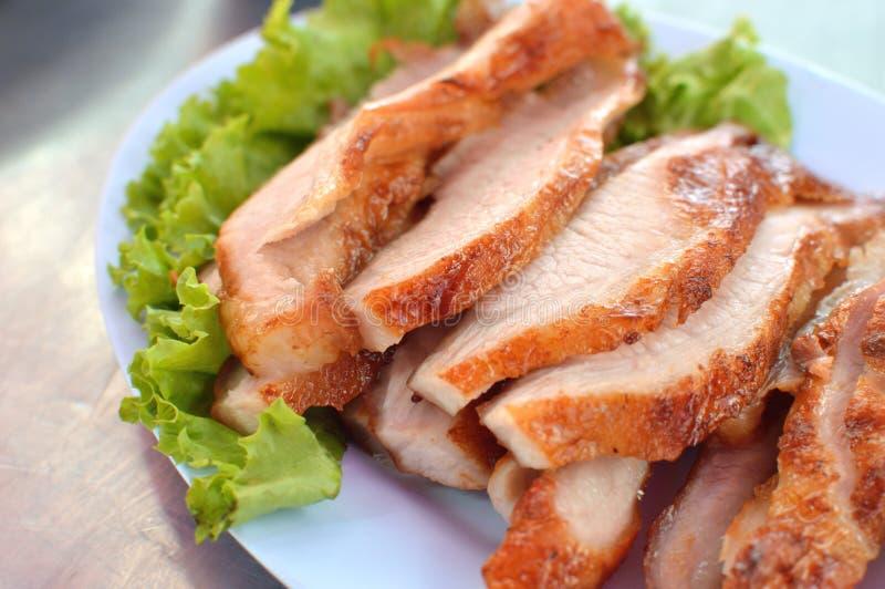 Carne de porco cozinhada bem cozido fotografia de stock
