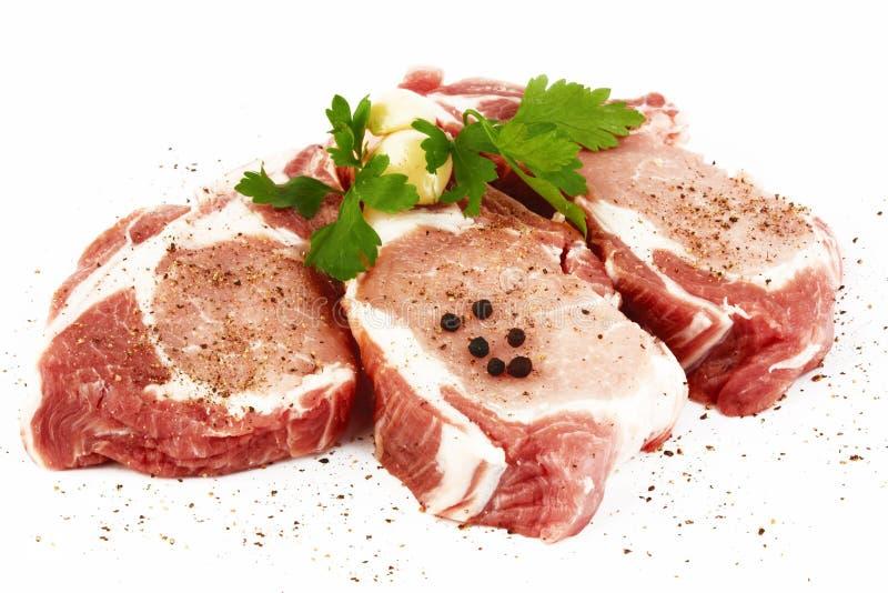 Carne de porco crua fotografia de stock