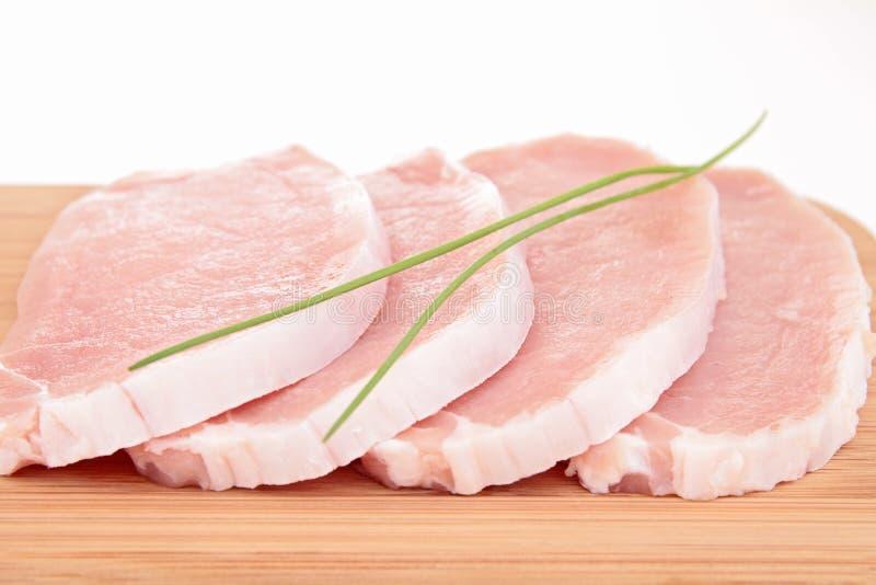 Carne de porco da carne crua imagem de stock royalty free