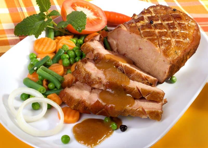 Carne de porco do assado imagem de stock royalty free