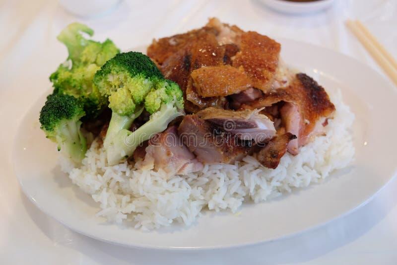 Carne de porco do assado da cidade de China fotografia de stock