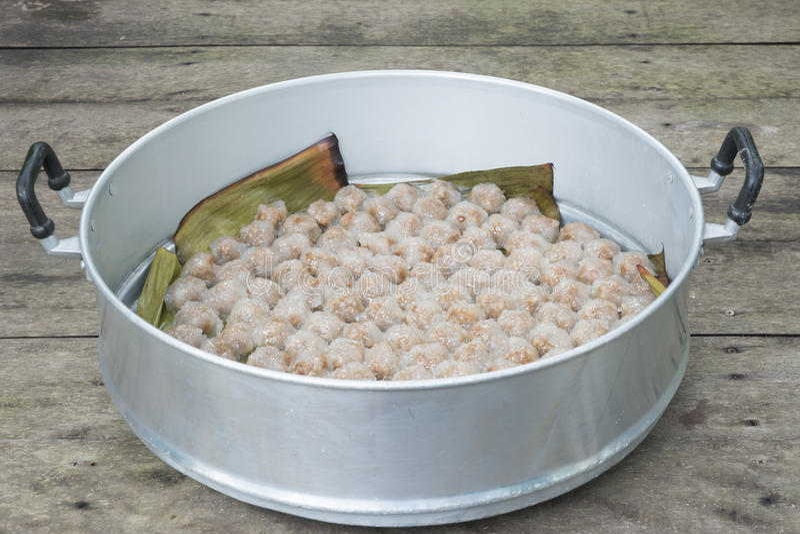 Carne de porco do sagu da sobremesa de Tailândia fotografia de stock royalty free