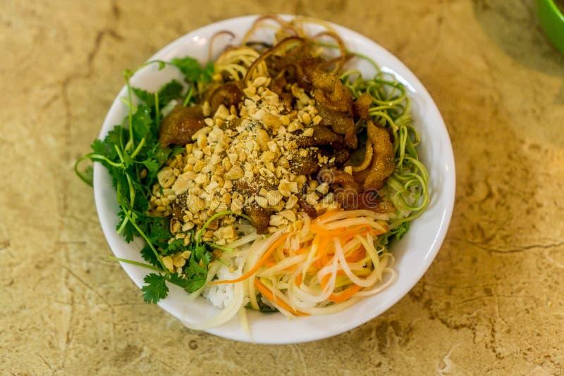 Carne de porco e arroz em Hanoi, Vietname fotografia de stock royalty free