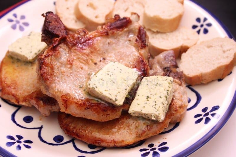 Carne de carne de porco grelhada fotos de stock royalty free
