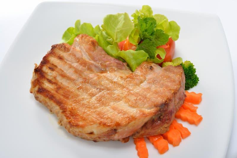 Carne de porco grelhada fotos de stock royalty free