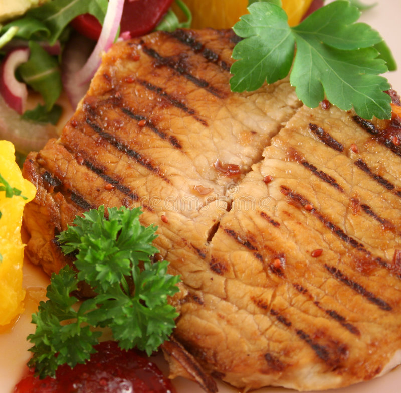Carne de porco grelhada da borboleta fotos de stock