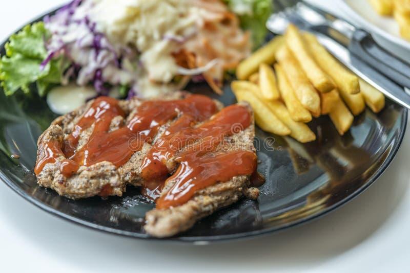 Carne de porco de pimenta preta fotografia de stock